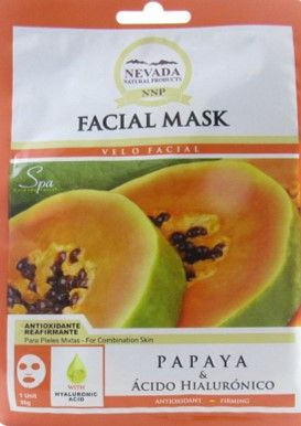 NEVADA. Mascarillas Faciales de Papaya & Acido Hialurónico