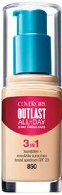 COVERGIRL. Base Líquida Outlast Stay Fabulous 3 en 1 – creamy beige 850
